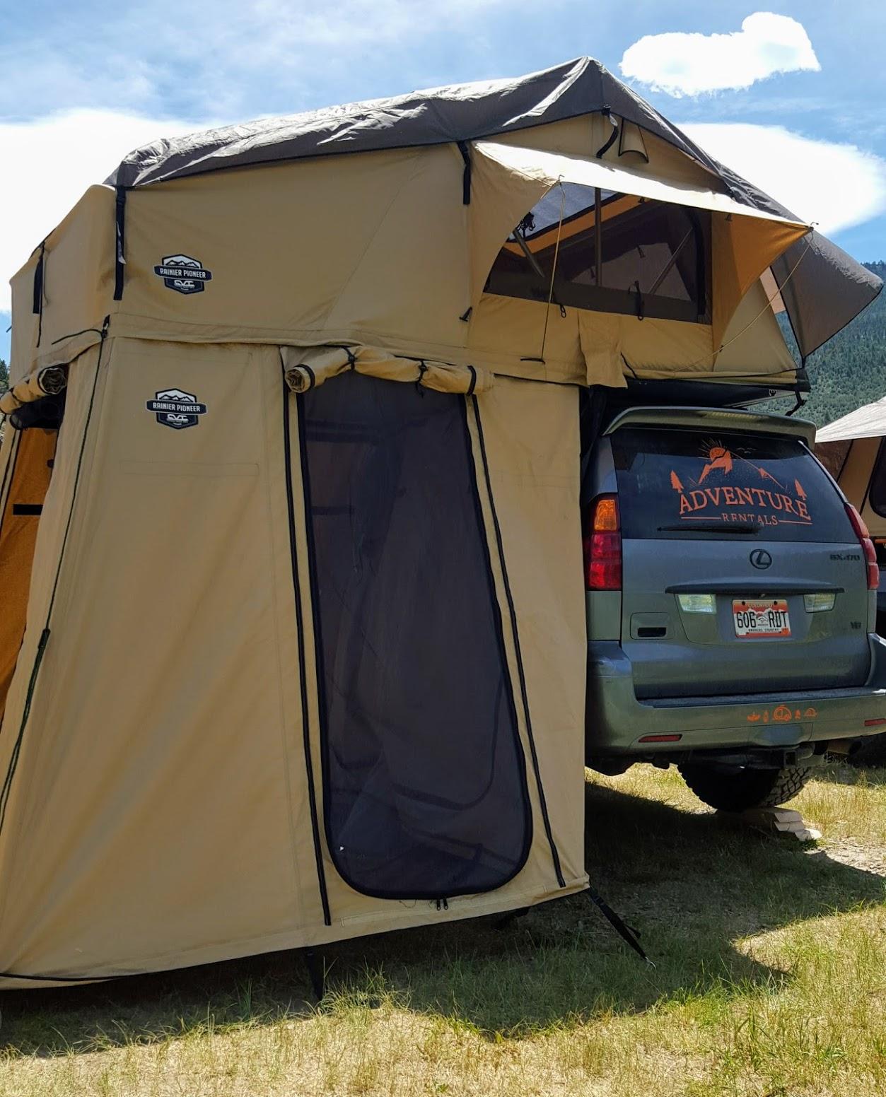 0d83cf46c96 CVT Mt. Rainier 3+ Person Rooftop Tent with Annex – Adventure ...